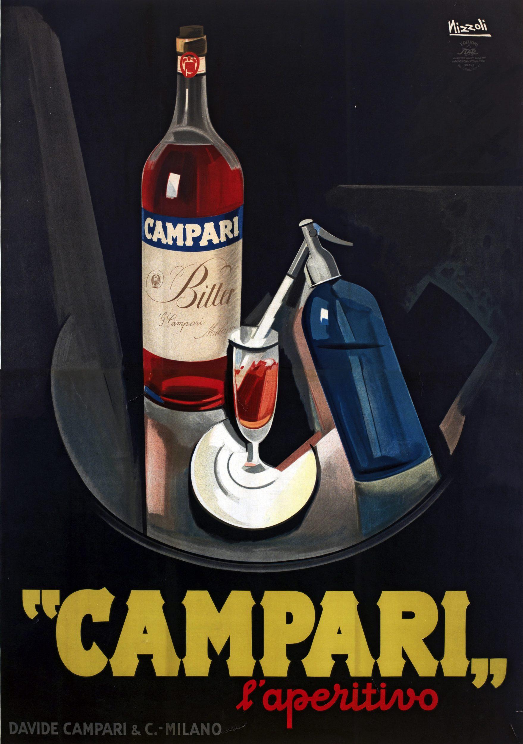 Campari l'aperitivo, 1925, Marcello Nizzoli