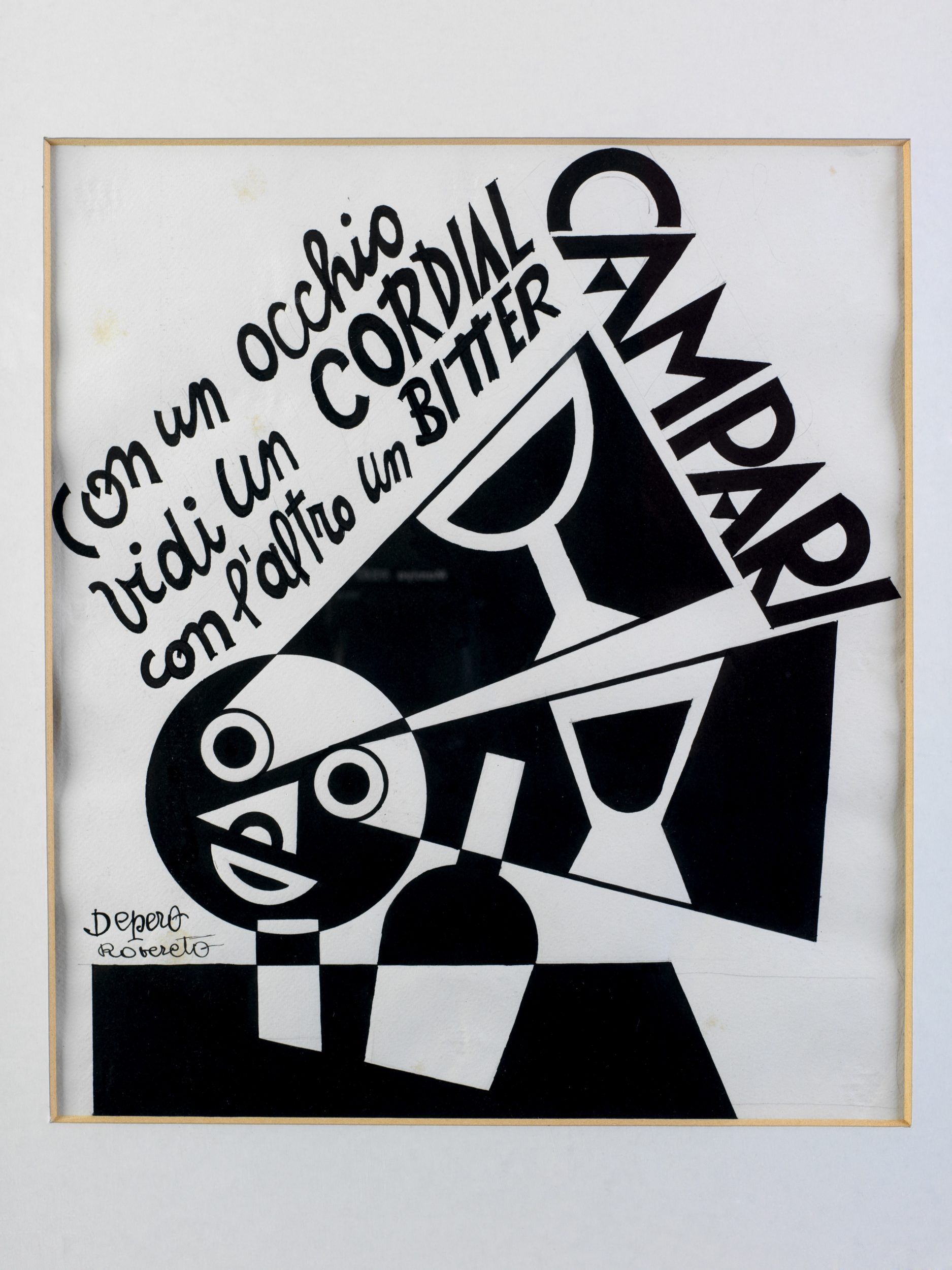With one eye I saw a Cordial, with another a Bitter Campari, 1928, Fortunato Depero
