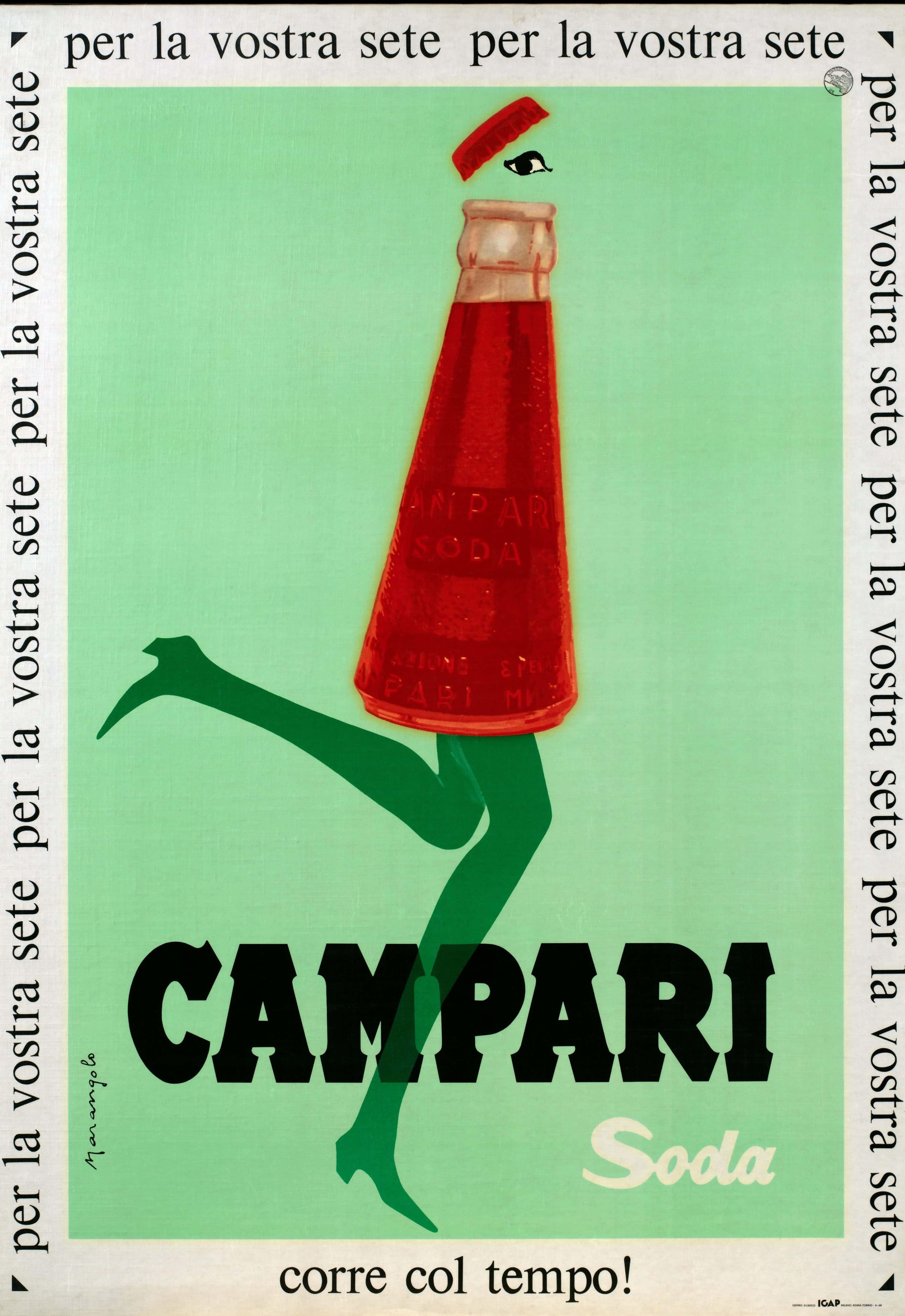 Campari Soda in line with the times!1960s, Franz Marangolo