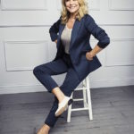 Actress Amanda Redman in Ops &Ops White Sand Patent No11s