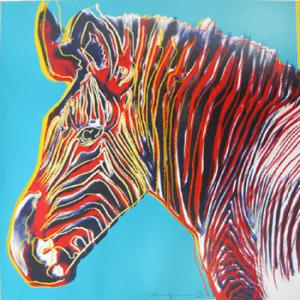 Camouflage: Andy Warhol's Endangered Animals Zebra