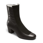 Ops&Ops No16 Black Duo boots leather and suede, angled