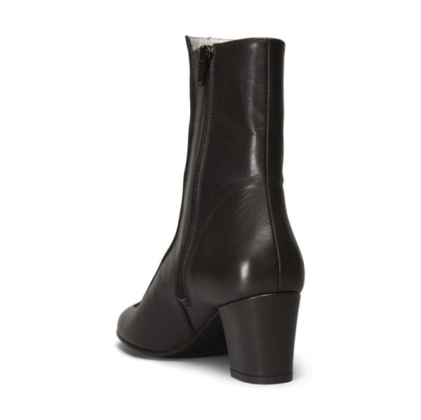 Ops&Ops No16 Black Duo leather and suede mid-heel boots back
