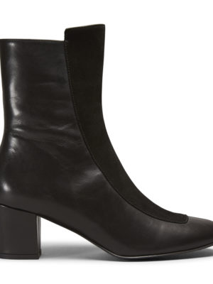Ops&Ops No16 Black Duo boots leather and suede, side