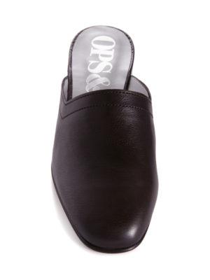 6dc536eb533da Ops Ops No13 Matte Black leather slides with black edge