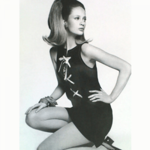 Ceila Hammond in short short mini dress