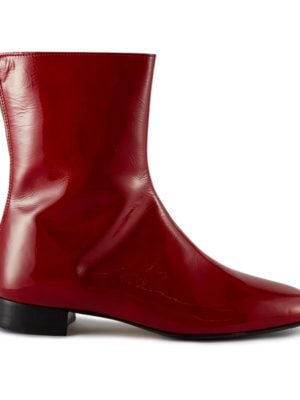 Ops&Ops No12 Boots Dark Cherry Patent Leather, side view