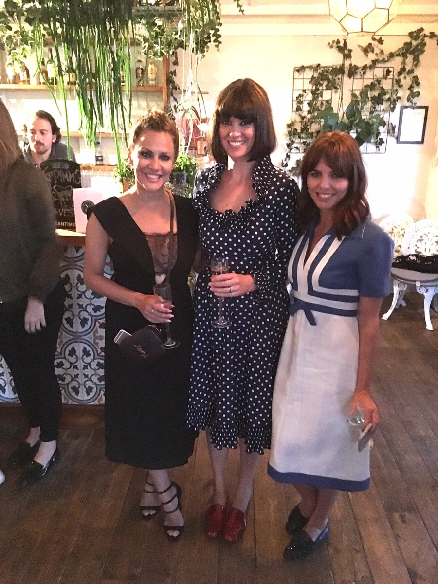 Caroline Flack, Dawn and Ophelia looking glam at roof-top pop-up