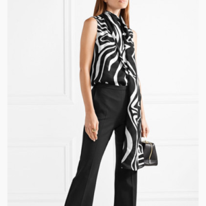 Emilio Pucci tie-neck Animal Print silk wrap top