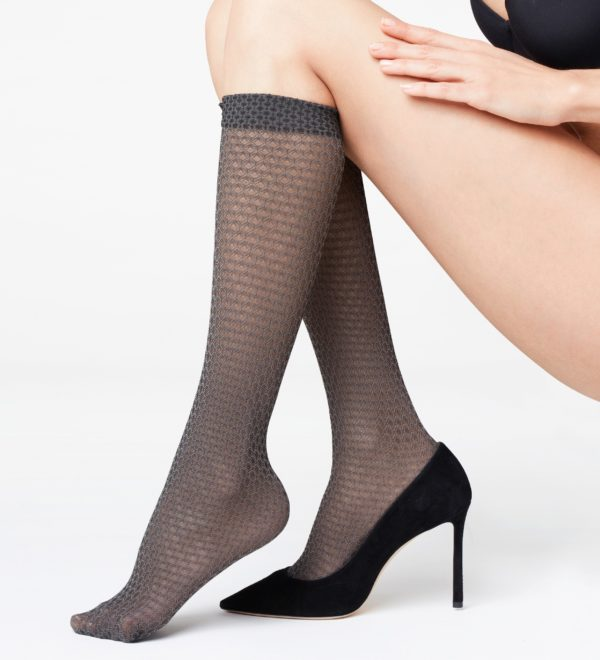 Falke Harmony Knee-High Socks in Platinum