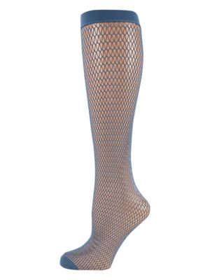 Falke Fish Trap Knee-High Socks in Baltic Blue