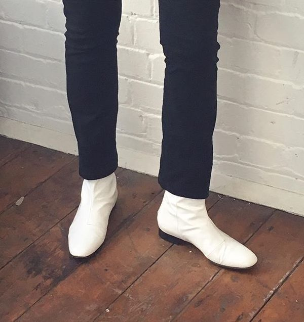 Ops&Ops No12 Opaque White leather boots