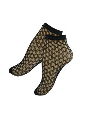Falke Gill Net ankle stockings in black
