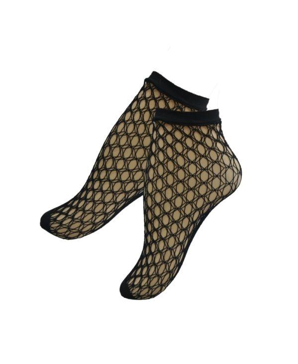 Falke Gill Net ankle stockings in black