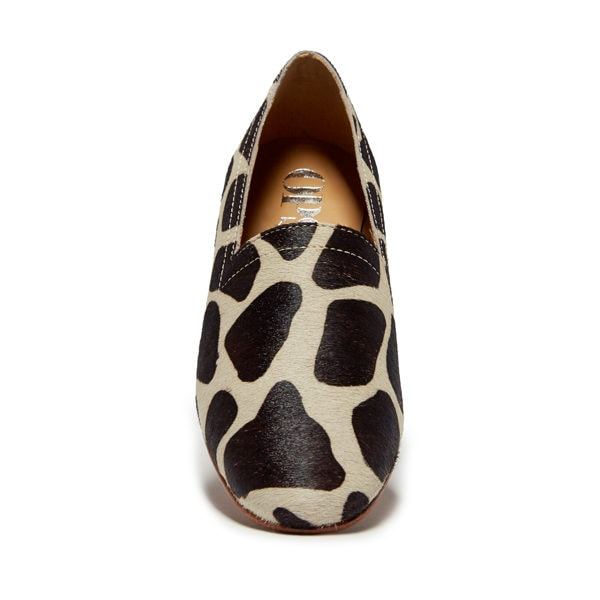 Ops&Ops No14 Giraffe lined ponyskin flats, front