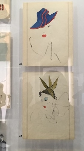 Dior hat illustrations, pre opening of House of Dior. Christian Dior: designer of Dreams