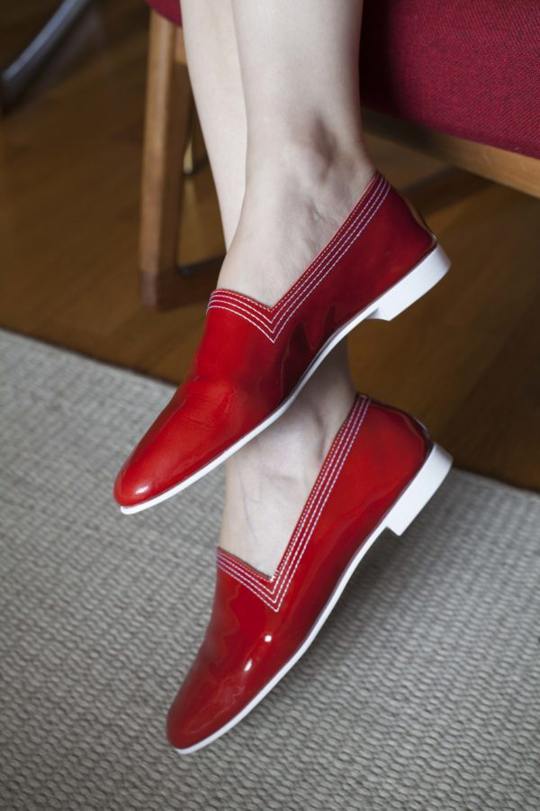 Ops&Ops No10 Red Racer patent leather flats, lookbook