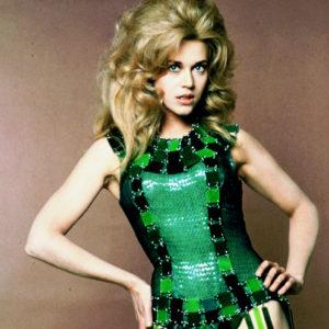 Jane Fonda in green Paco Rabanne costume, Barbarella, 1968