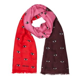 Kenzo eye-print scarf