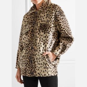 Malene Birger Tidara oversized leopard print bomber jacket