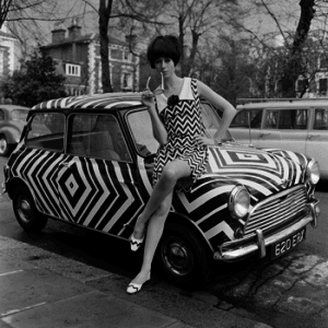Camouflage: op-art dazzle with dress and Mini