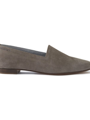 Ops&Ops No10 Mink Suede flats, side view