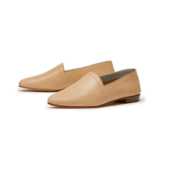 Ops&Ops No10 Latte matte leather flats, pair