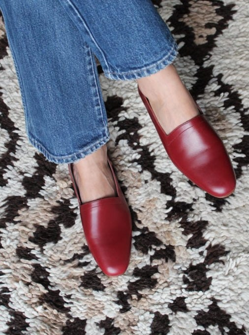 Ops&Ops No10 flats Claret leather