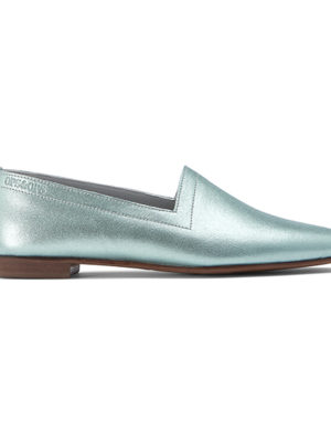Ops&Ops No10 flats Metallic Mint leather, side view