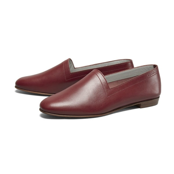 Ops&Ops No10 Claret leather flats pair