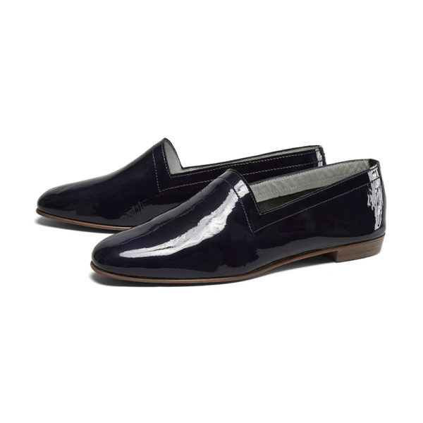 Ops&Ops No10 Midnight Blue patent leather flats pair