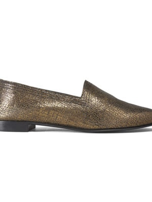 Ops&Ops No10 Reno Racer textured leather flats, side