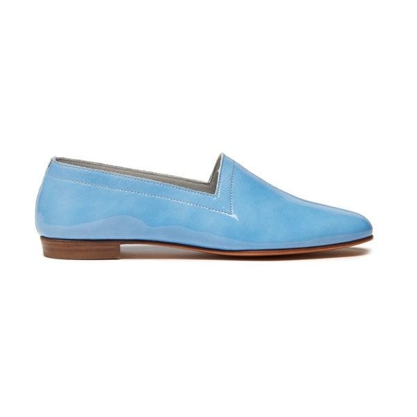 Ops&Ops No10 Ocean patent leather flats, side view