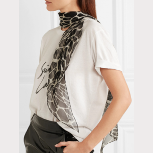 Saint-Laurent Cheetah print scarf in silk