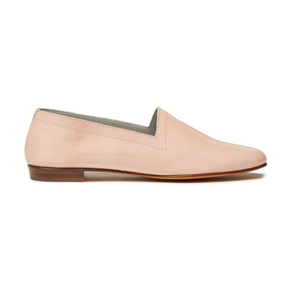 Ops&Ops No10 Shrimp patent leather flats, side view