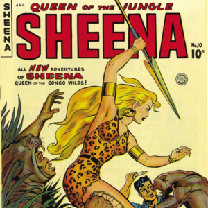 US comic book jungle girl heroine, Sheena Queen Of The Jungle