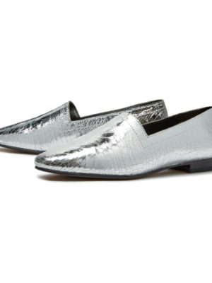 Ops&Ops No14 Silver Foil lined flats, pair