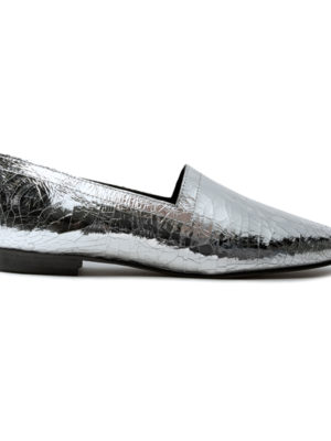 Ops&Ops No14 Silver Foil lined flats, side view