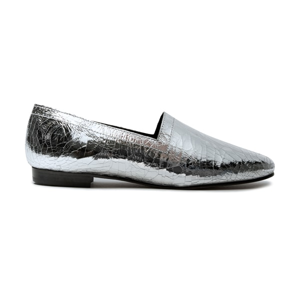 eab1ff4f7e19 ... Ops Ops No14 Silver Foil leather lined flats