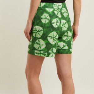 Stella Jean green tie-dye shorts