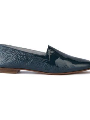 Ops&Ops No10 Teal Patent flats, side view