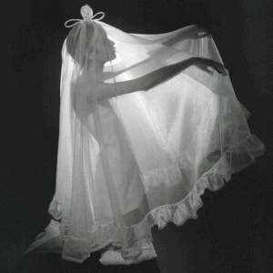 Twiggy in Jean Varon for white wedding feature, Vogue 1967. Photo by Norman Parkinson