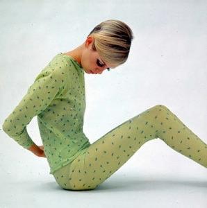 Twiggy in light green leotard pyjamas set