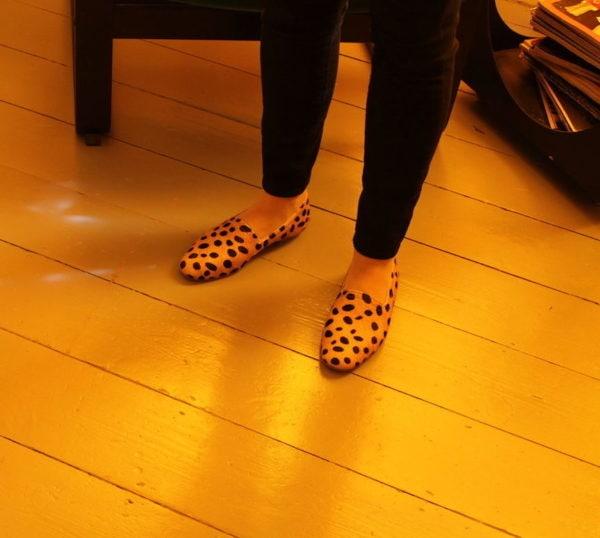 Ops &Ops Cheetah Ponyskin No14 Flats