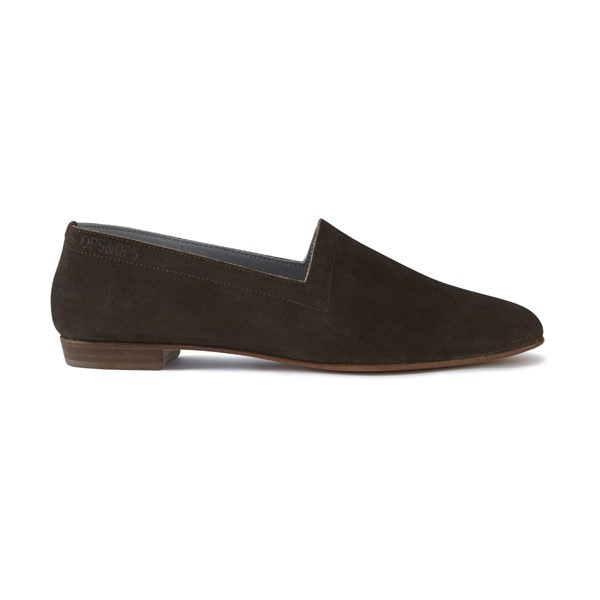 Ops&Ops No10 Cocoa Suede flats, side view