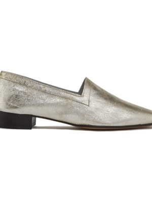 No.11 Crackle Gold heels, side view