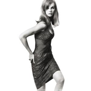 Jean Shrimpton models John Bates 1965 dress of the year.