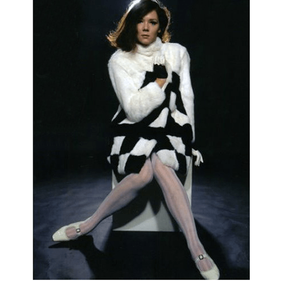The Avengers style file Diana Rigg as Emma Peel in The Avengers
