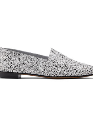 Ops&Ops No10 Pebble flats embossed leather, side view