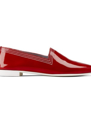 Ops&Ops No10 Red Racer flats, side view